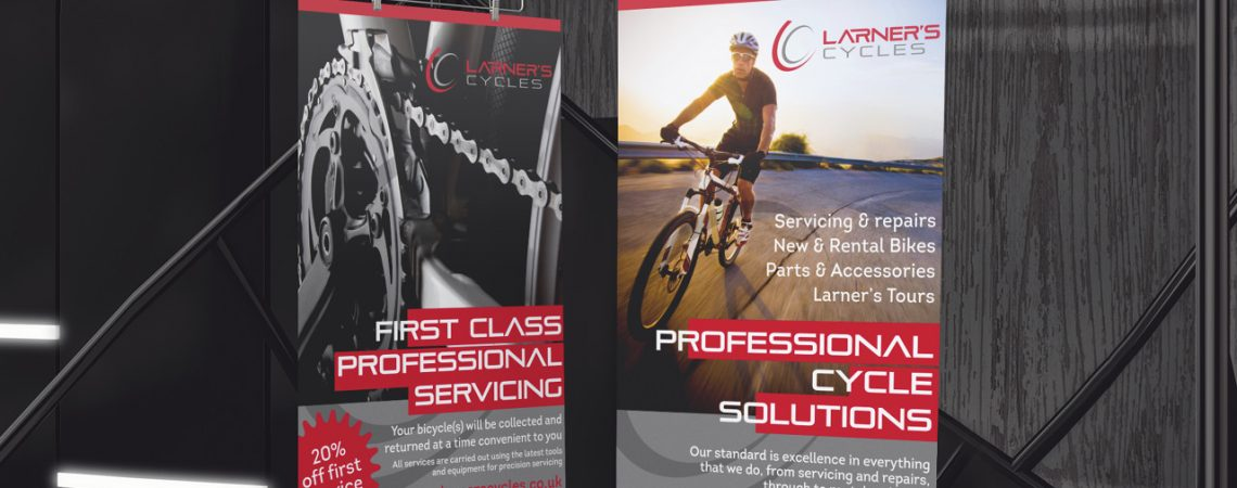 Larner's Cycles Display Stands