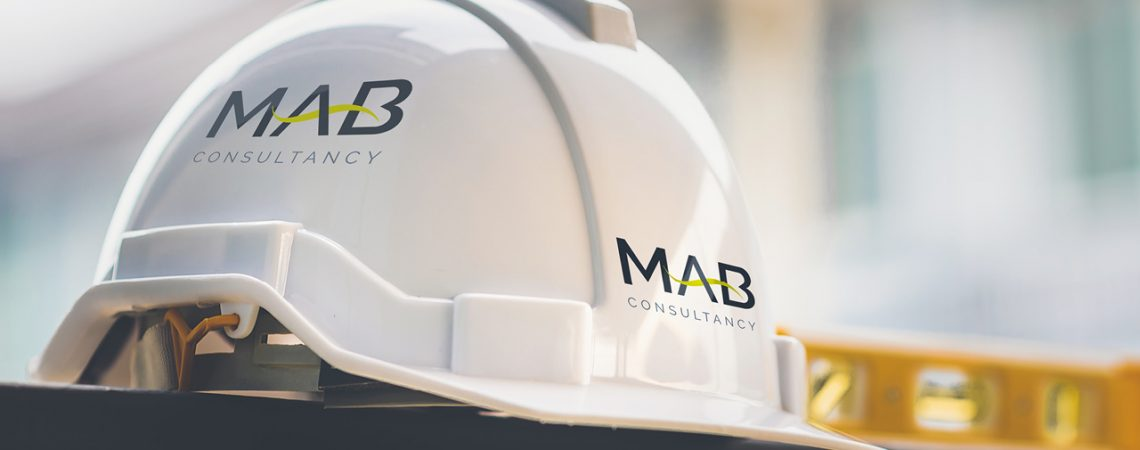 MAB logo on a hard hat
