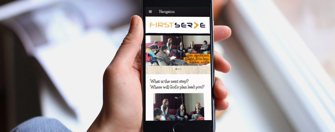 Firstserve's Website on a Phone